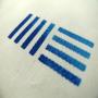 Baumwolltasche in Weiß mit mehrfarbigem Siebdruck in Nahaufnahme