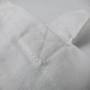 Baumwolltasche in Weiß mit buntem Siebdruck in Nahaufnahme