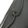 Großer Zuziehbeutel aus Baumwolle, ideal für großflächige Motive im Siebdruck in Nahaufnahme