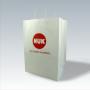 Kraftpapiertasche mit gedrehten Papierkordeln und Siebdruck