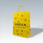"""Kraftpapiertasche """"Käsealm"""" mit gedrehten Papierkordeln"""