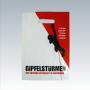 """Plastiktüte  mit Motiv """"Gipfelstürmer"""" in Weiß und Rot mit  schwarzen Akzenten"""