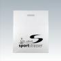 """Plastiktüte """"sportstrasser"""" in Weiß mit schwarzem Druck"""