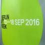 PP Non Woven Tasche für die Berlin Art Week in Nahaufnahme