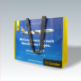 PP Woven Tasche mit dezentem Fotomotiv und langen Kunststofftrageschlaufen für Condor