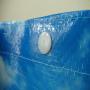 PP Woven Tasche mit laminiertem Flexodruck und dunkelbraunen Akzenten für den Bäckereibedarf in Nahaufnhame