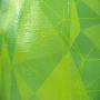 PP Woven Tasche mit aufwendigem, geometrischem Druck und langen Trageschlaufen aus Kunststoff in Nahaufnahme
