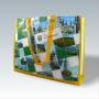 PP Woven Tasche Mansfeld-Südharz mit Fotomotiven und bunten Akzenten (Vorderseite)