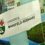 PP Woven Tasche Mansfeld-Südharz mit Fotomotiven und bunten Akzenten in Nahaufnahme