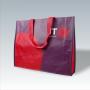 PP Woven Tasche mit mehrfarbigem Flexo-Druck und Kunststofftrageschlaufen