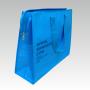 Kraftpapier + Non Woven, Reissverschluß, Prägung - metallickblau