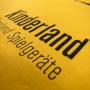 Baumwolltasche Kinderland mit langen Trageschlaufen und Siebdruck in Nahaufnahme