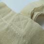 Baumwolltasche mit schwarzem Siebdruck in Nahaufnahme