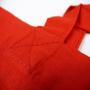 Kleine Baumwolltasche in Rot mit weißem Siebdruck für Apotheken in Nahaufnahme