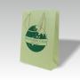 Grastasche, grünes Papier, Siebdruck