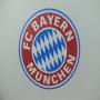 """Transparente Papiertasche """"FC Bayern München""""-Logo in Nahaufnahme"""